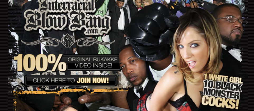 Great interracial paid porn website for black bukkake