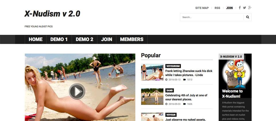 X-Nudism beach voyeur