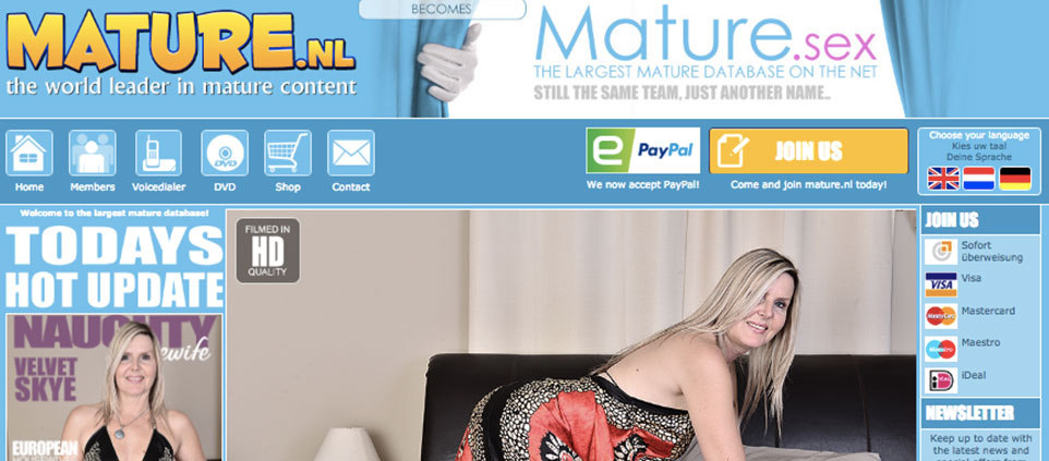 This one is the most popular pay xxx site if you're up for great hd mature porn content