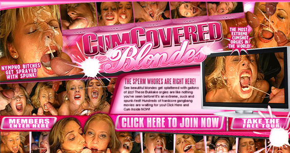 popular blondes porn site for cumshot videos