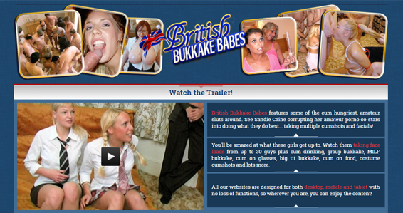 Popular British pay sex site for bukkake sex videos