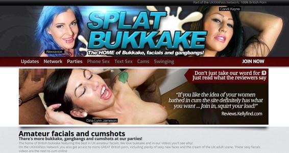 Best bukkake premium porn site with sexy Brit girls