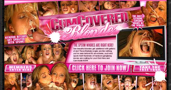 Best bukkake porn site for blonde chicks in wild action